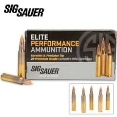 SIG Sauer .223 Rem 40gr Varmint and Predator Centerfire Cartridges - Hollow Point - Box of 20