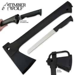 Timber Wolf Elite Knife Axe Combo with Sheath