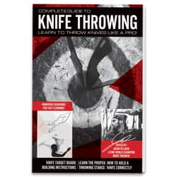 """Complete Guide To Knife Throwing - Detailed Instructions And Illustrations, Softcover Book, 23 Pages - Dimensions 8 1/2""""x 5 1/2"""""""