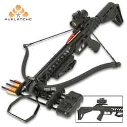 Avalanche HellHound Recurve Crossbow - Scope, Bolts, Cocking Rope, Quiver Included