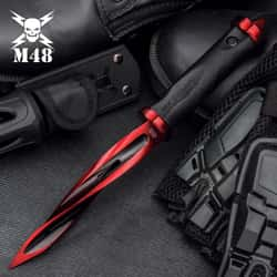 Limited Edition M48 Cardinal Sin Cyclone Boot Knife With Vortec Sheath - Cast Stainless Steel Blade, Reinforced Nylon Handle