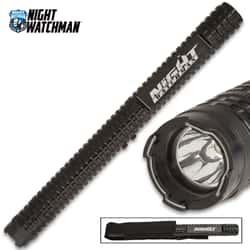 "Super Grip Baton Stun Gun - 28,000 Volts, Military Grade Aluminum Body, 280-Lumen LED, Three Lighting Modes - Length 13 3/4"""