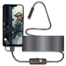 3-in-1 HD Tactical And Automotive Use Endoscope - 640x480 Resolution, Supports Android/Windows, Waterproof, Adjustable