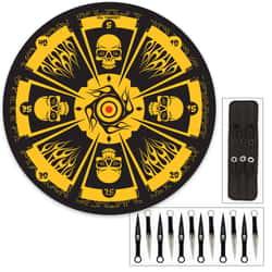Skull Master Throwing Knife Set & Target