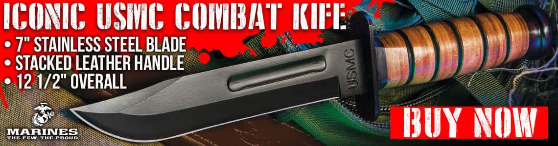 USMC Combat Fighter Fixed Blade Knife