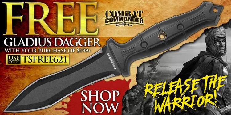 Free Gladius Knife with $199+ purchase!