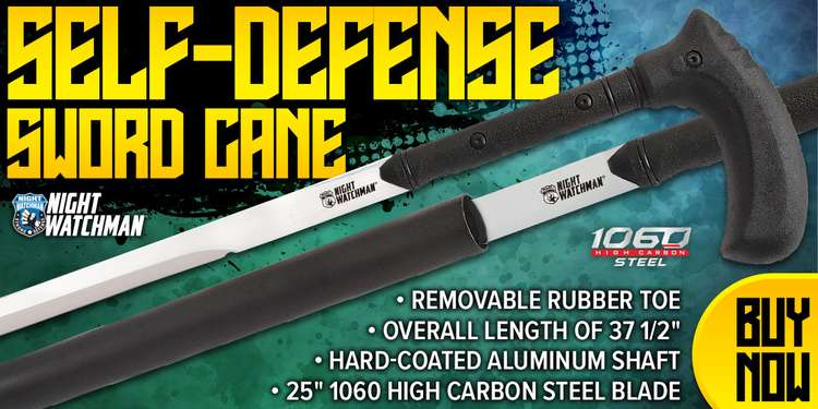 NIGHT WATCHMAN HEAVY DUTY SELF-DEFENSE SWORD CANE
