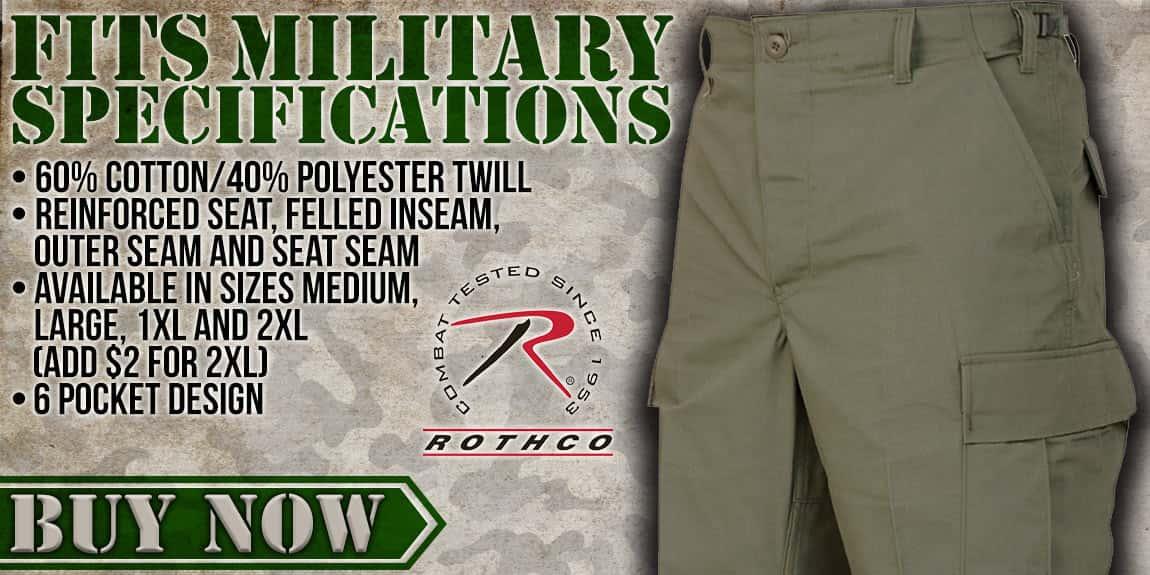 ROTHCO Basic BDU Uniform Pant OD