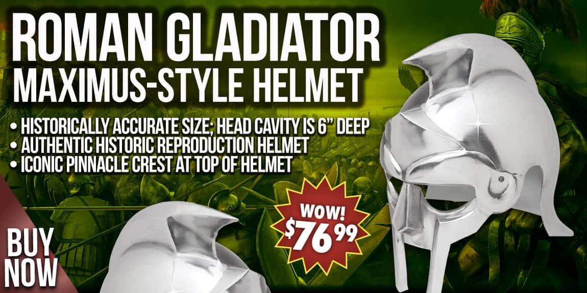 Roman Gladiator Maximus-Style Historic Reproduction Helmet