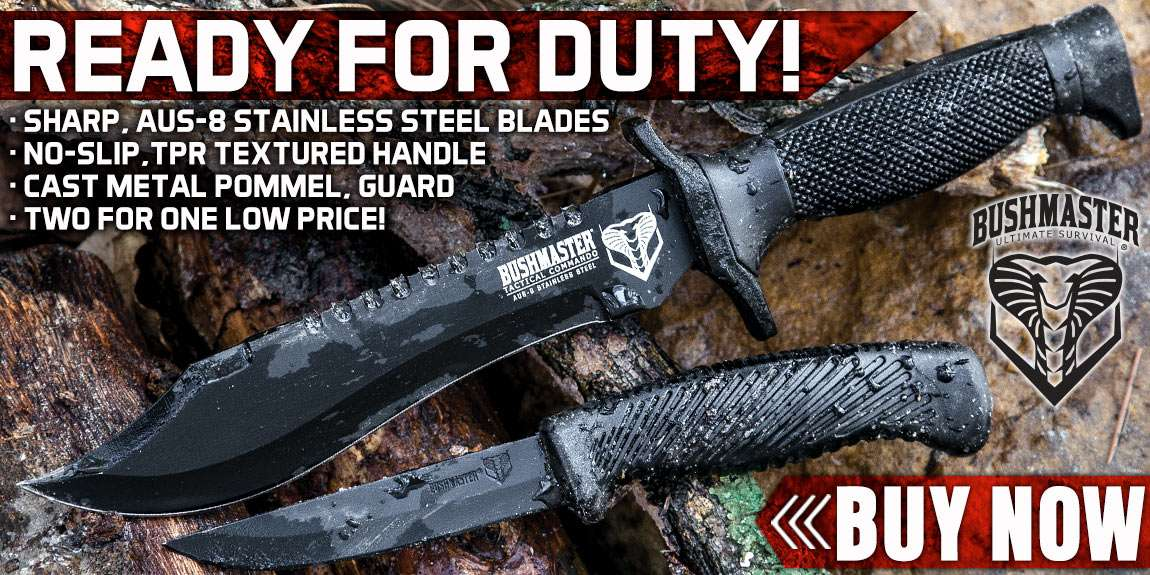 Bushmaster Tactical Commando Knife And Free Skinner Knife