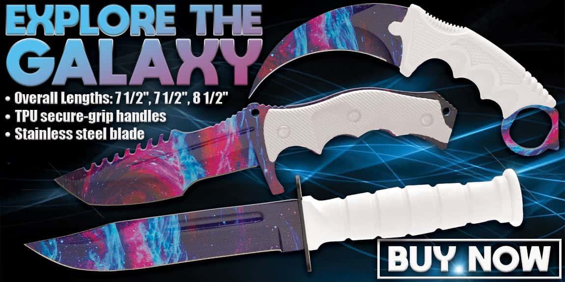 Black Legion White Galaxy Triple Knife Set