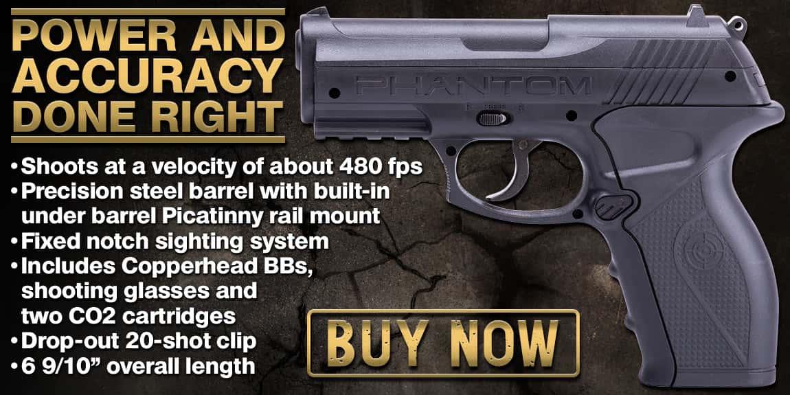 Crosman Phantom Kit CO2 Powered Air Pistol