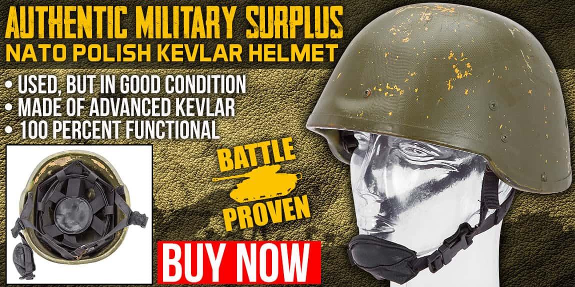 NATO Polish Kevlar Helmet