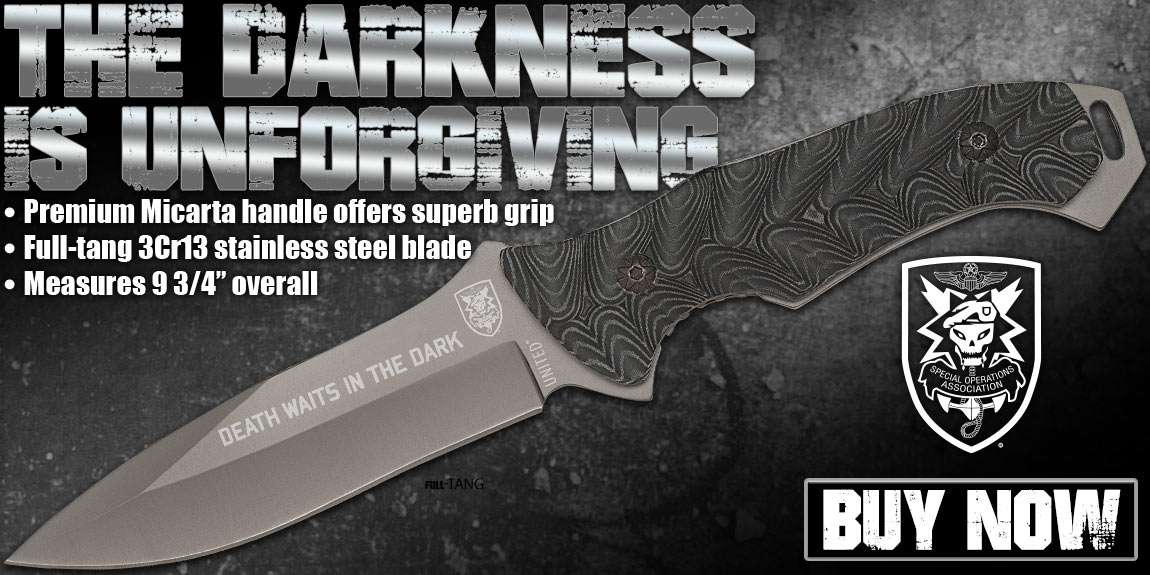 United Cutlery SOA Titanium Coated Micarta Handle Knife Kydex Sheath