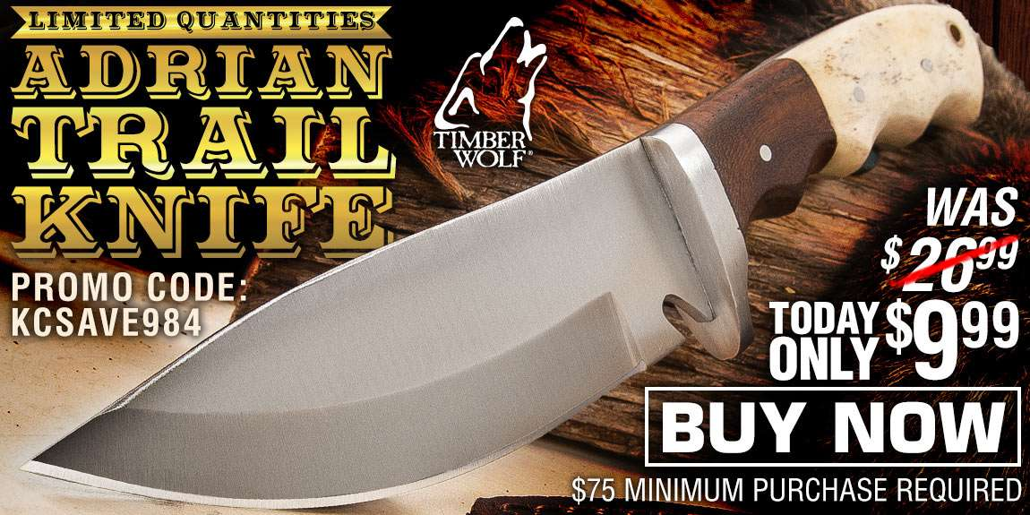 Timber Wolf Adrian Trail Knife With Sheath