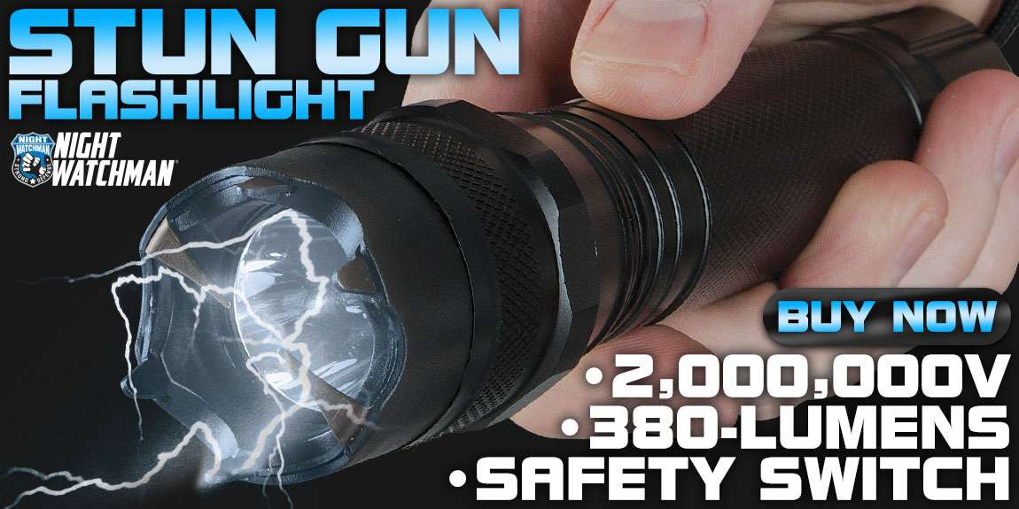 Night Watchman 2 Million-Volt Police Stun Gun Flashlight