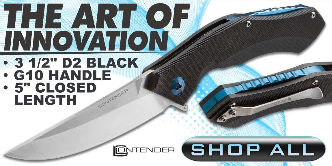 Contender Axion Advanced Ball Bearing Pocket Knife with D2 Blade