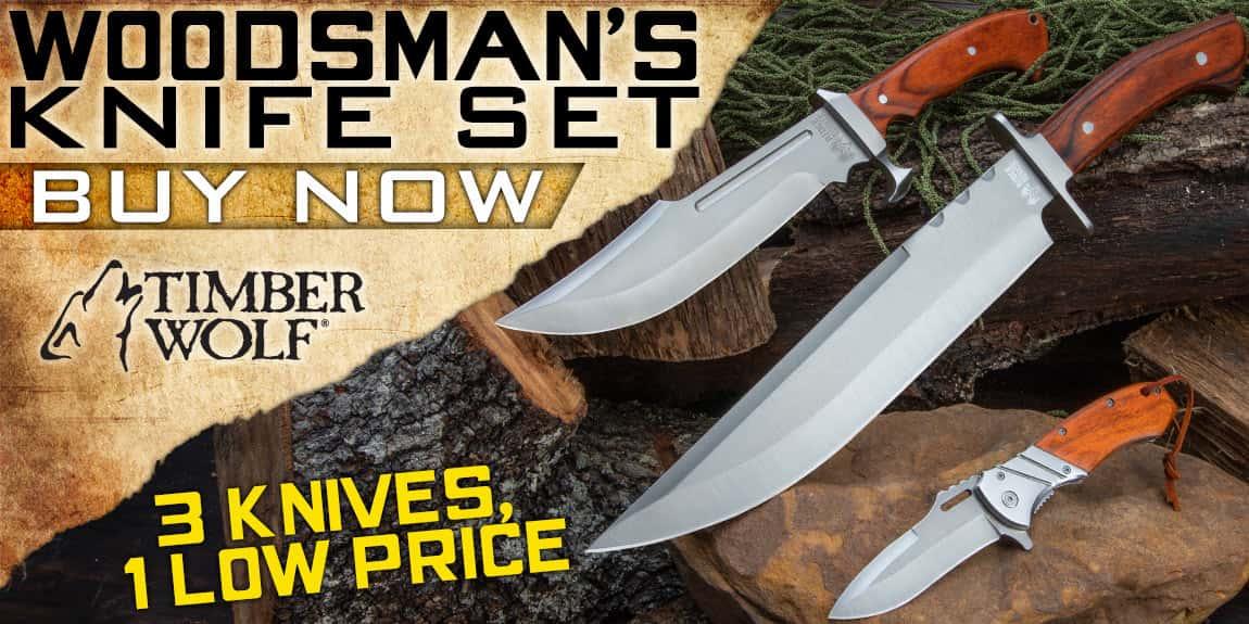 Woodsman's Knife Set