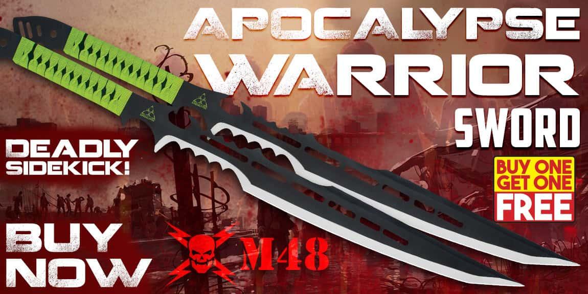 Apocalypse Warrior Sword with Sheath - BOGO
