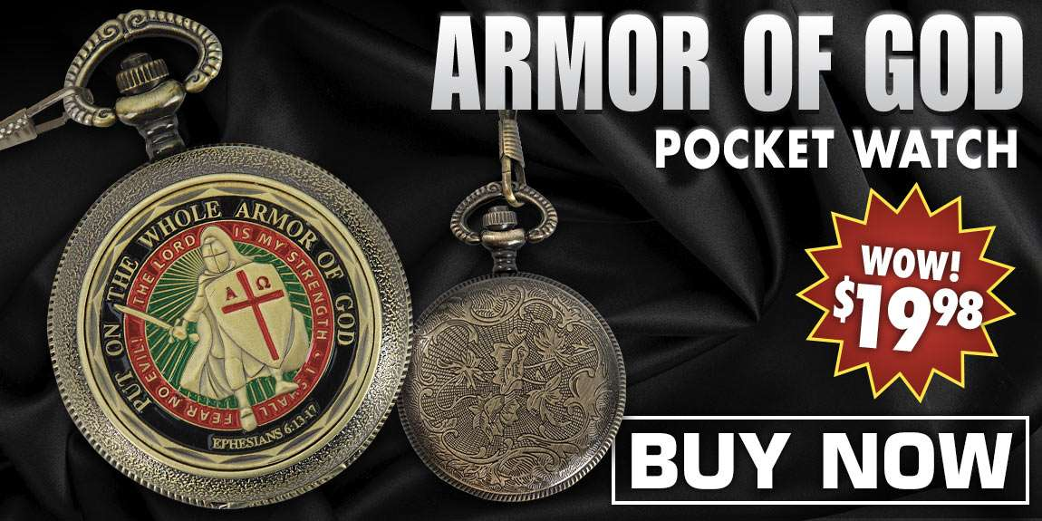 Armor of God Pocket Watch
