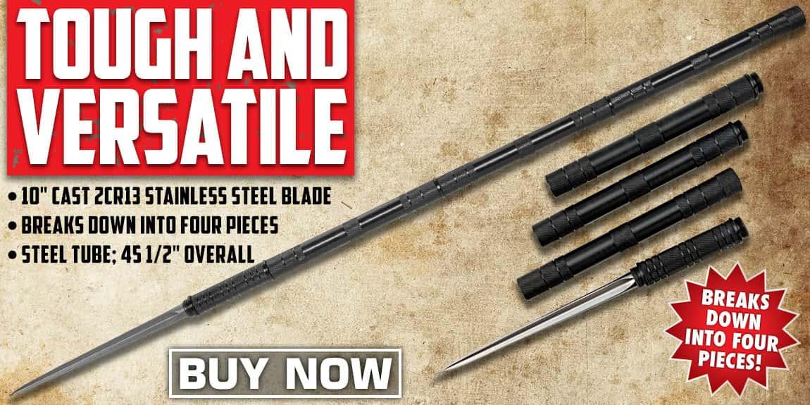 B.M.F.™ Tri-Edged Heavy Spear With Zippered Case