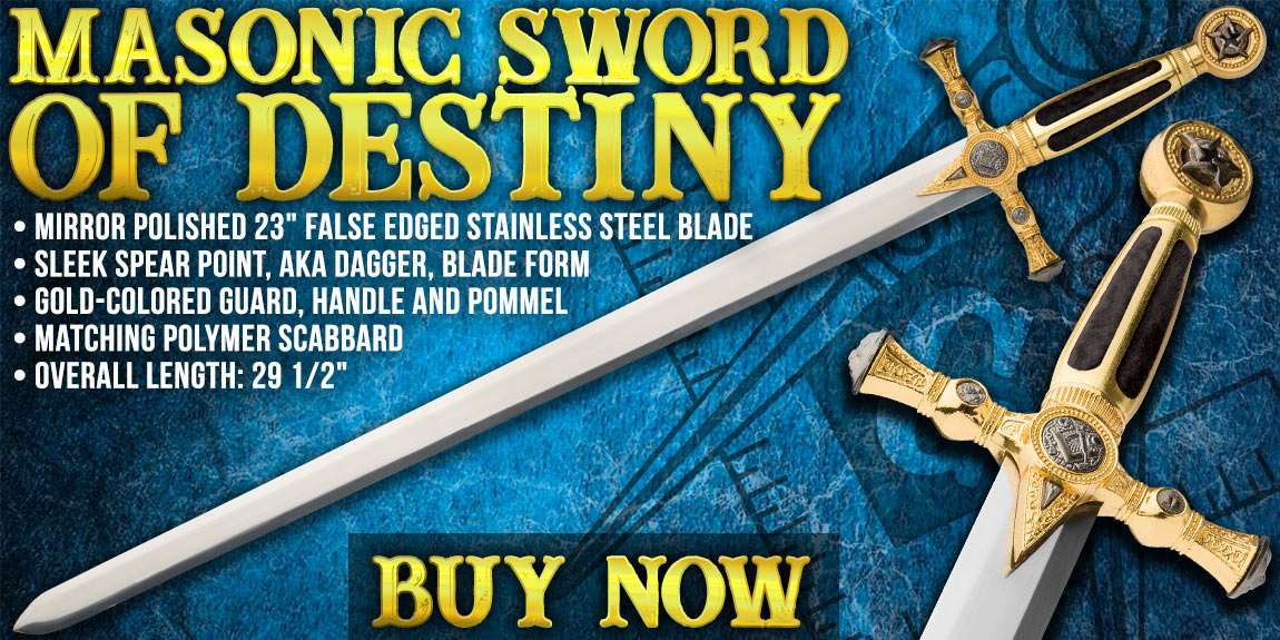 Medieval / Masonic Sword of Destiny with Scabbard