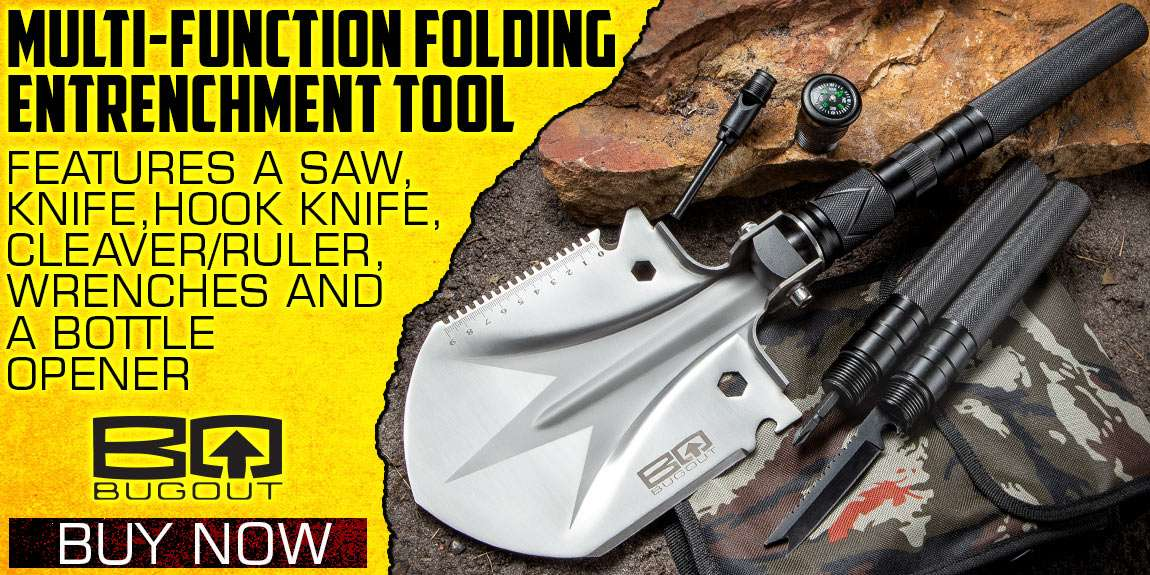 BugOut Multi-Function Folding Entrenchment Tool