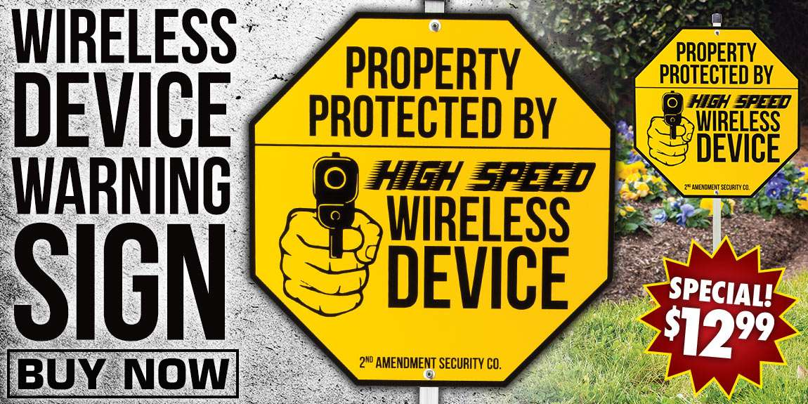 Wireless Device Warning Sign With Stake