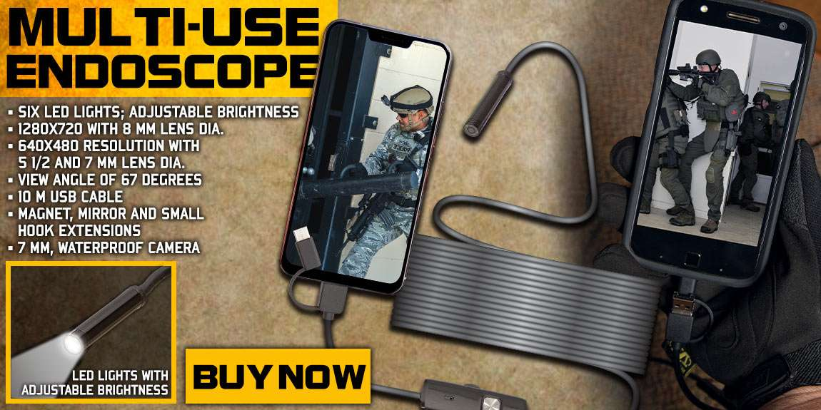 3-in-1 HD Tactical And Automotive Use Endoscope