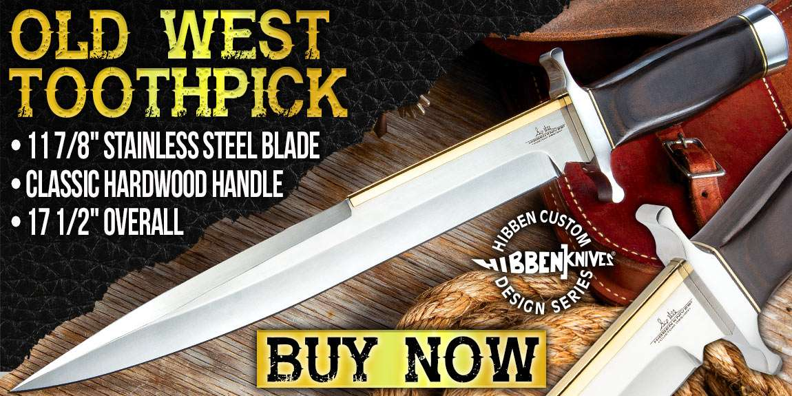 Gil Hibben Old West Toothpick Bowie Knife