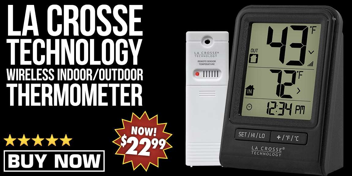 La Crosse Technology Wireless Indoor/Outdoor Thermometer