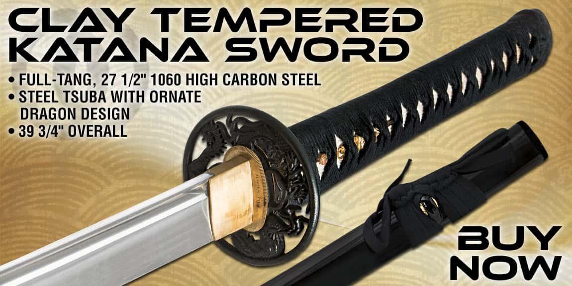 Musashi 1060 Carbon Steel Clay Tempered Katana Sword