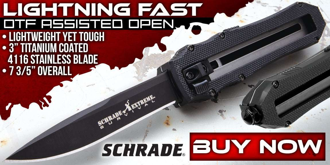 Schrade Extreme First Generation OTF Assisted Opening Pocket Knife