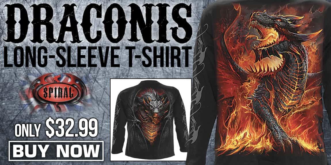 Draconis Black Long-Sleeve T-Shirt