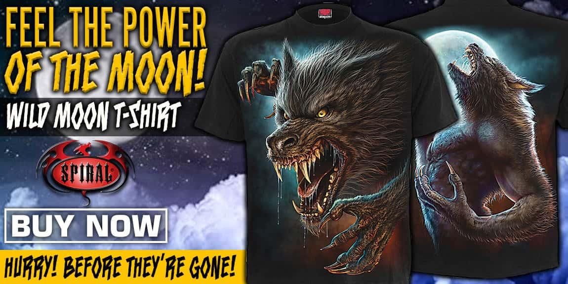 Wild Moon Black Short-Sleeved T-Shirt
