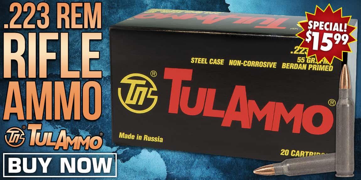 TulAmmo .223 Rem Rifle Ammo