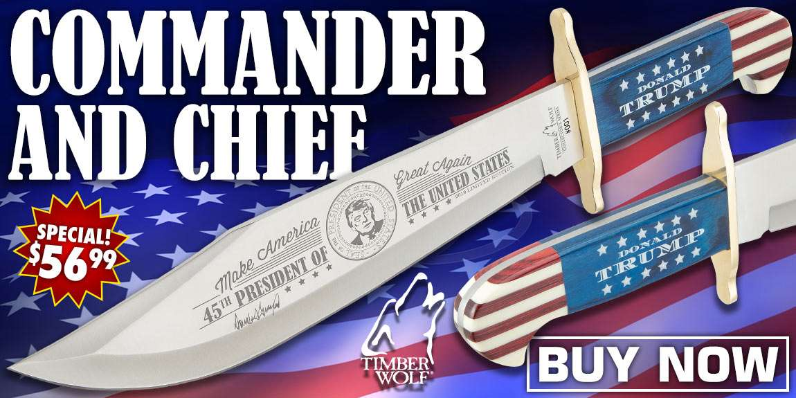 Timber Wolf Limited Edition Trump Bowie Knife