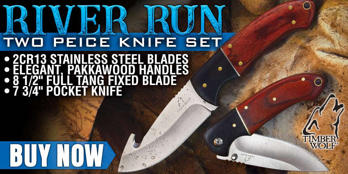 Timber Wolf River Run Two-Piece Hunting Knife Set