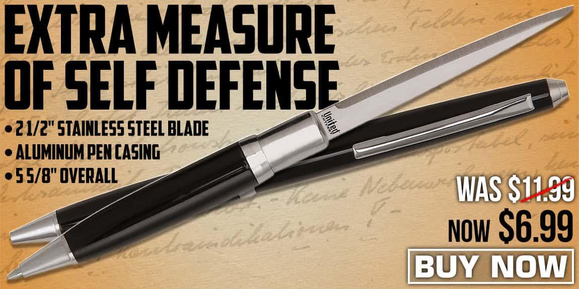 Black Ink Pen Knife
