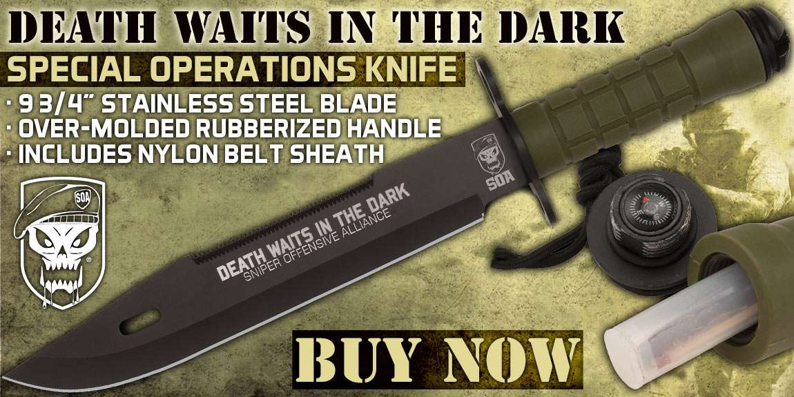 United Cutlery Death In The Dark Survival Knife