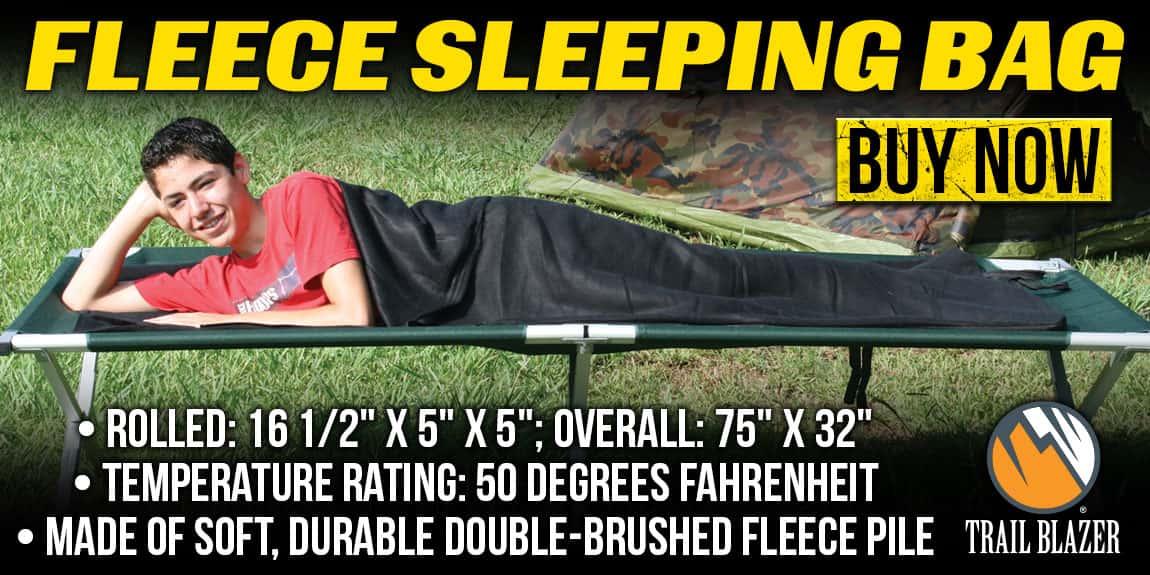 Trailblazer Fleece Sleeping Bag