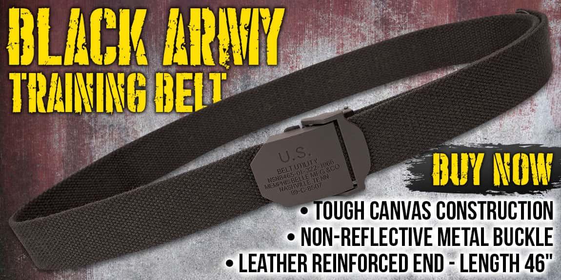 Black Army Training Belt