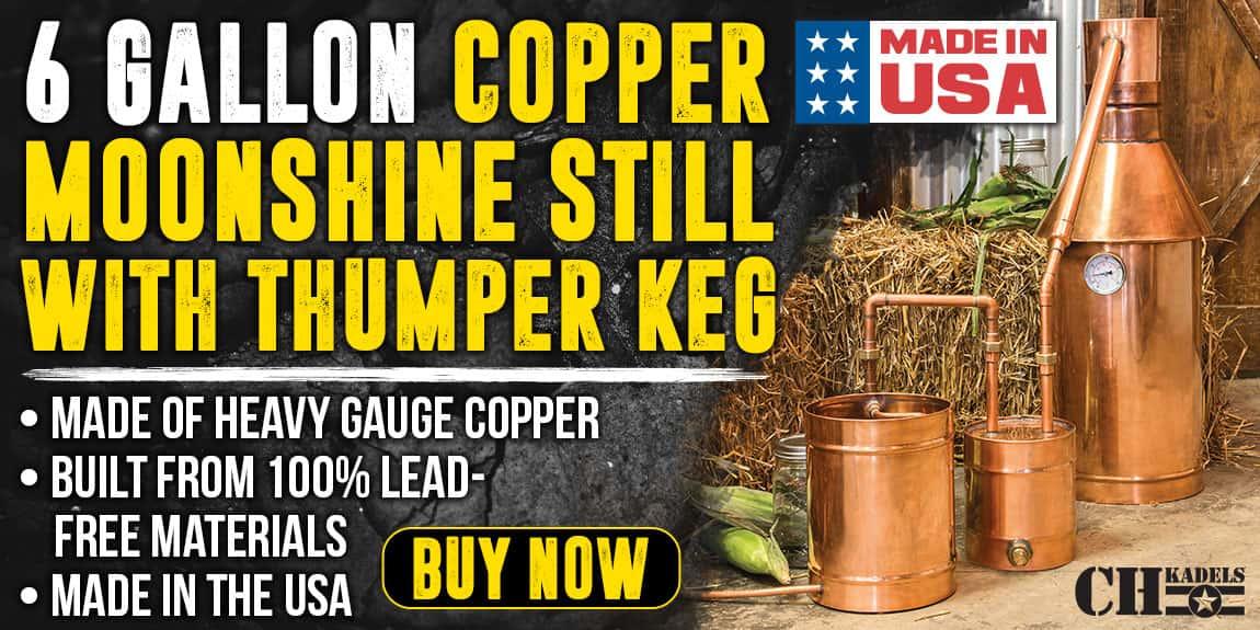6 Gallon Copper Moonshine Still