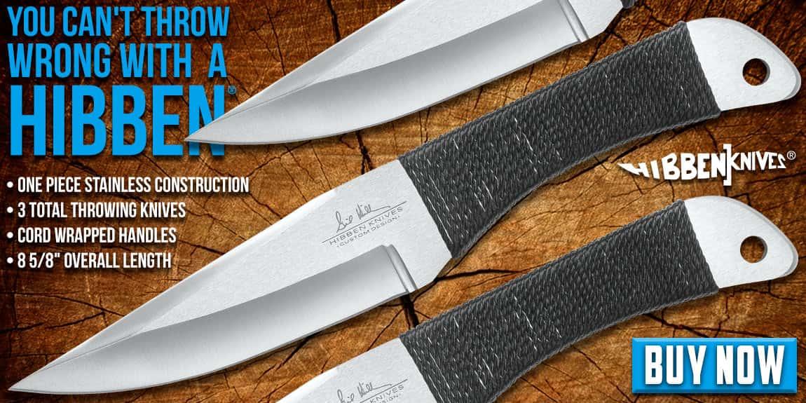 Gil Hibben Large Throwing Knife Triple Set