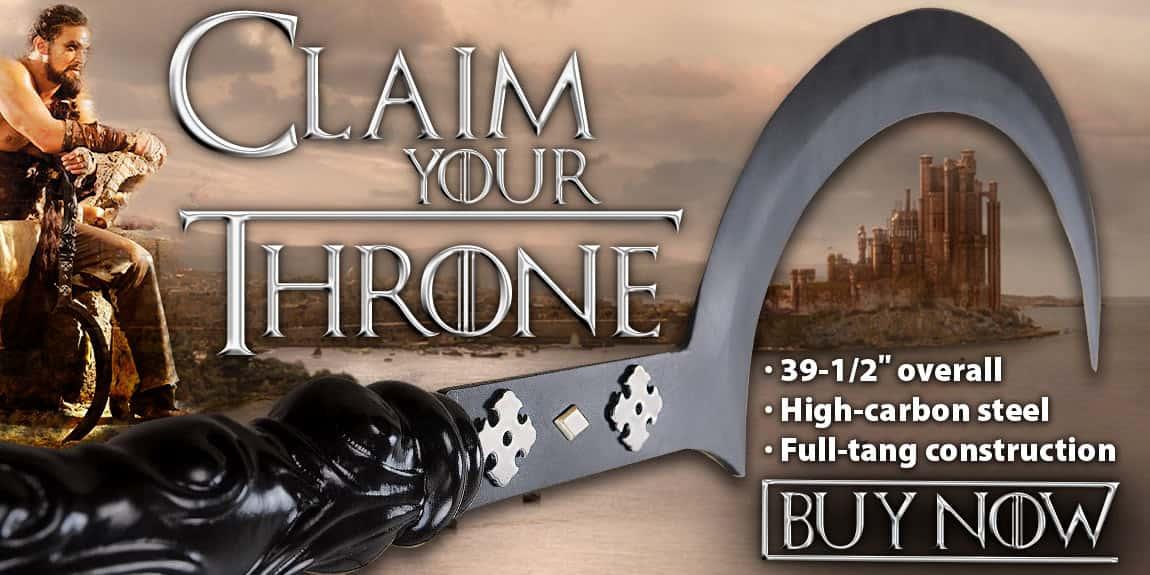Game Of Thrones Khal Drogo Arakh Full Tang Sword