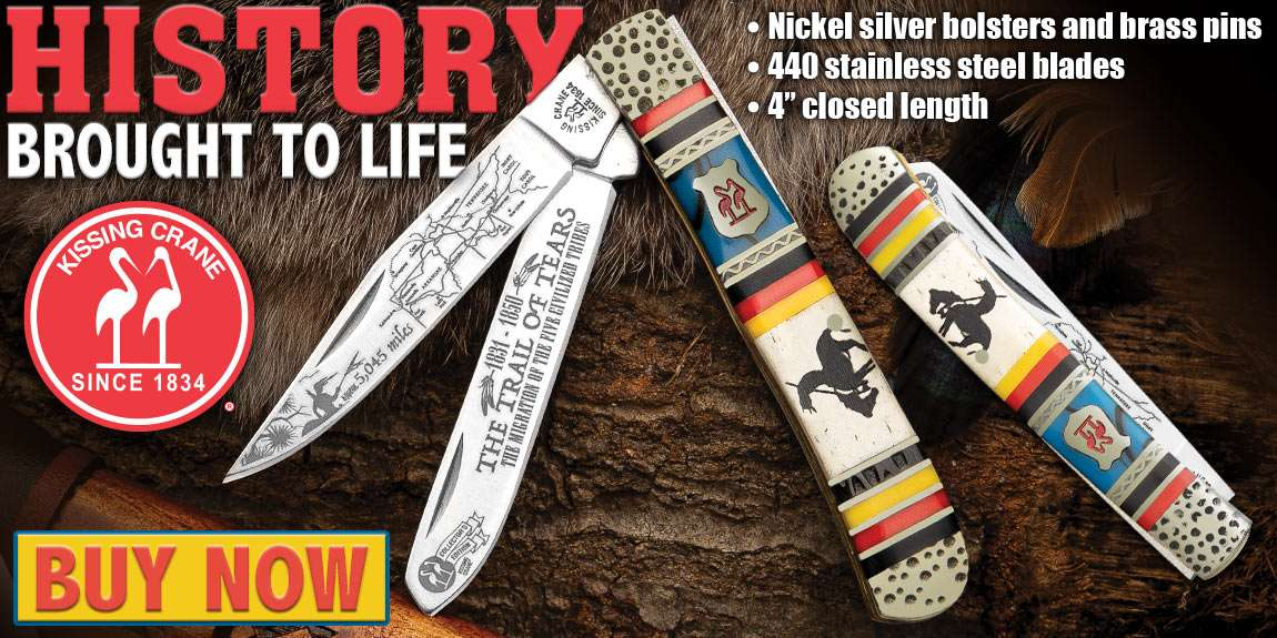 Kissing Crane Trail Of Tears Trapper Pocket Knife
