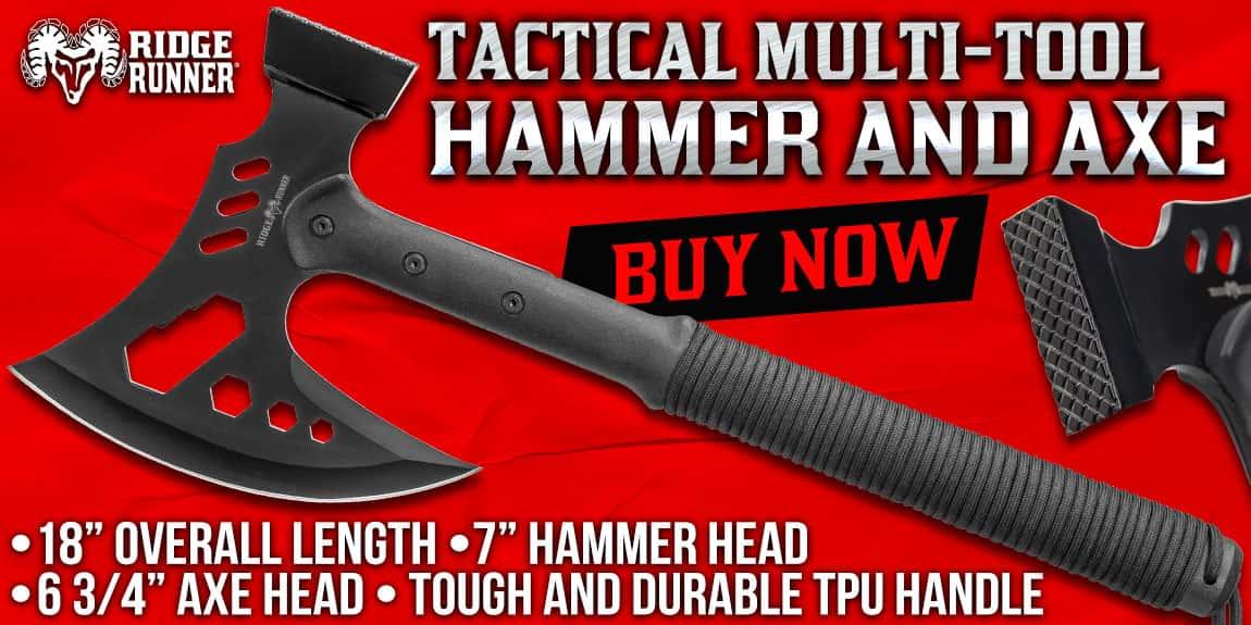 Ridge Runner Tactical Multi-Tool Hammer And Axe