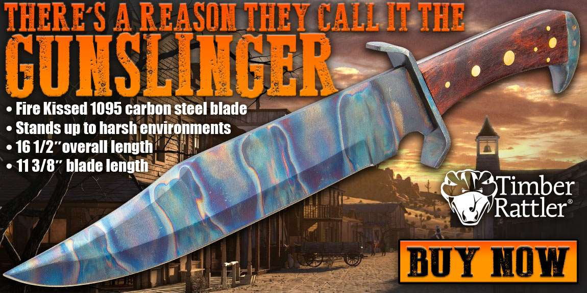 Timber Rattler Gunslinger Bowie Knife