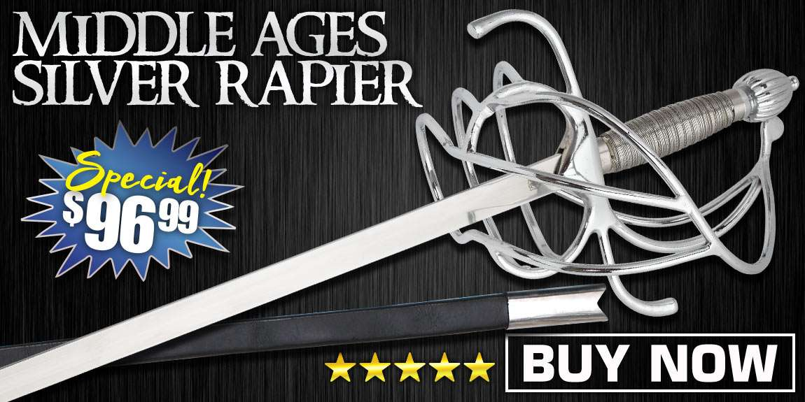 High Middle Ages Silver Rapier Sword
