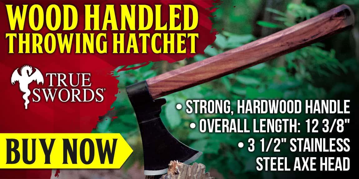 Wood Handled Throwing Hatchet